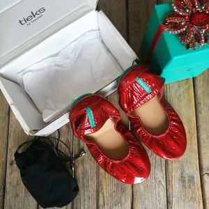 New LIMITED EDITION Red Diamond Tieks Size 7